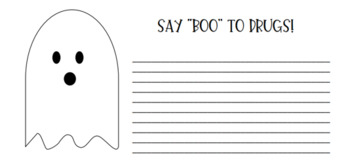 """Say """"BOO"""" to Drugs - Red Ribbon Week - Halloween Theme"""
