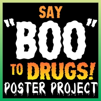 "Say ""BOO"" to Drugs! Red Ribbon Week Poster Project"