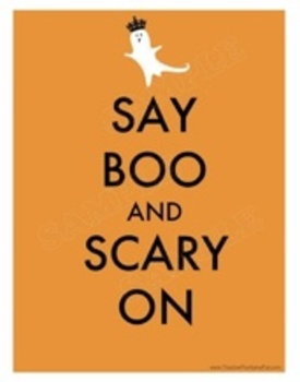 """Say Boo and Scary On"" Poster"