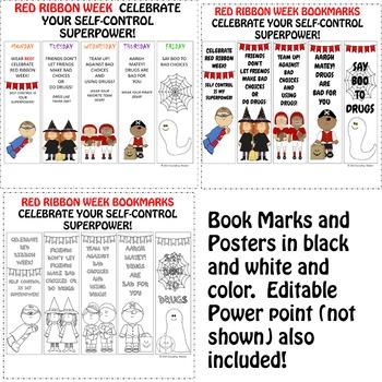 Say Boo to Bad Choices K-4th Red Ribbon Week Activities