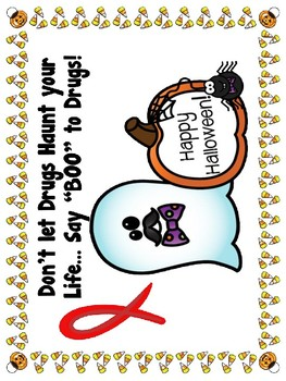Say Boo! to Drugs Red Ribbon Week Posters