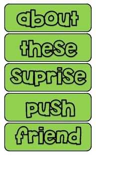 Say Build Write : PM sight words