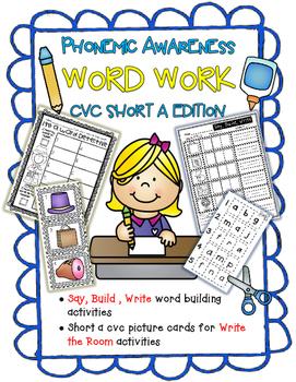 Say, Build, Write Short A CVC Word Work