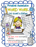 Say, Build, Write Short A CVC Words