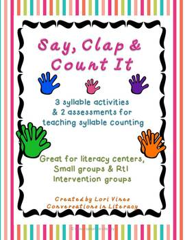 Syllable Counting Activities Say Clap and Count It