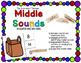 Say & Clip: Identifying Middle Sounds Clipping Phonics Activity {Color & BW}