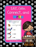 Say, Color, Connect, and Write CVC Words