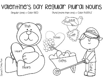 Say and Color Plural Nouns