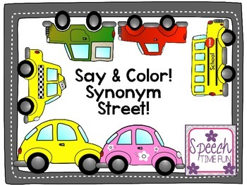 Say and Color Synonym Street