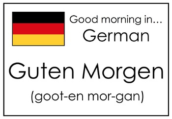Say Good Morning in Different Languages