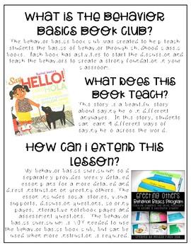 Say Hello- Behavior Basics Book Club