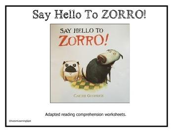 Say Hello to Zorro Shared Reading