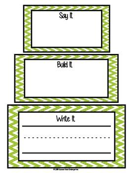 Say It, Build It, Write It! (pdf)