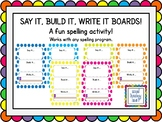 Say It, Build It, Write It Boards - Spots