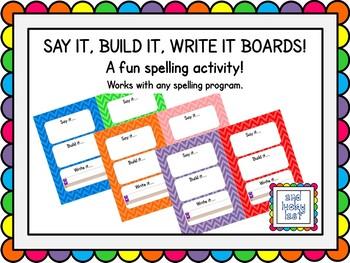 Say It, Build It, Write It Boards - Bold Chevron