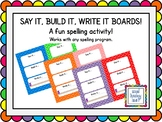 Say It, Build It, Write It Boards - Bold Chevron