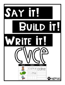 Word Work Mats {CVCE words}