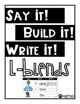 Word Work Mats {L Blends}