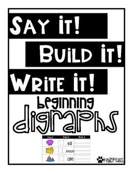 Word Work Mats {Beginning Digraphs}