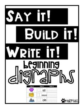 Word Work Mats {Beginning Digraphs}