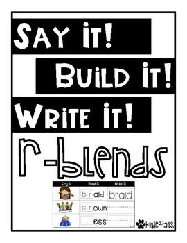 Word Work Mats {R Blends}