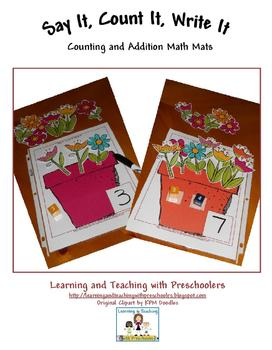 Say It, Count It, Write It Flower Math Mats