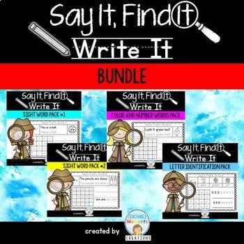 Say It, Find It, Write It - Bundle