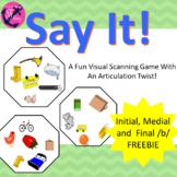 Articulation: Say It! Freebie