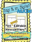 Say It In Style AGAIN!- 25 Editable Newsletter Templates
