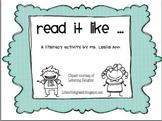 Say It Like Literacy Activity