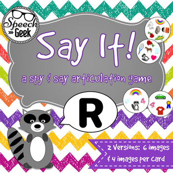 """Say It """"R"""" - a spy and say articulation game"""