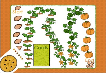 Dolch Sight Words Board Game Fall Theme