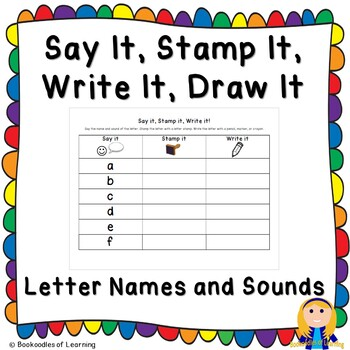 Say It, Stamp It, Write It, Draw It: Letter Names and Sounds Alphabetical Order