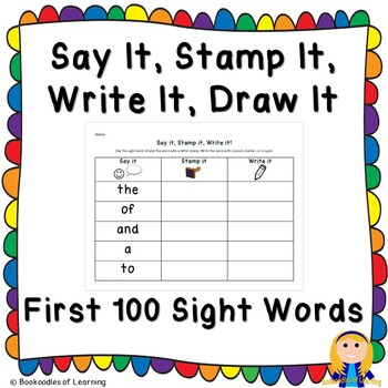Say It, Stamp It, Write It: FRY FIRST 100 SIGHT WORDS