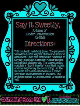 Say It Sweetly, A Game of Kinder Communication for Kids
