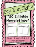Say It In Style- 20 Editable Newsletter Templates
