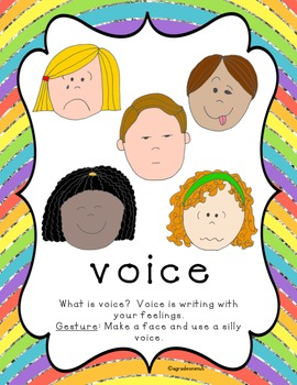 Say It With Voice {Writing Trait Activities}