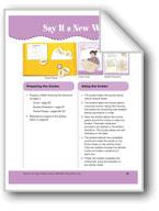 Say It a New Way (File Folder Center)