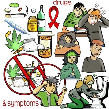 Say NO! to Drugs! Anti-Drug Clip-Art! 95 Pieces-BW and Color!