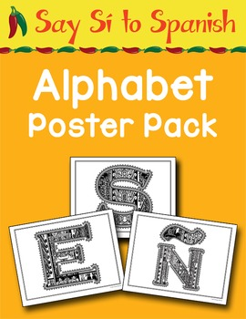 Say Sí to Spanish: Alphabet Poster Pack