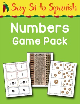 Say Sí to Spanish: Numbers Game Pack