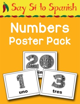Say Sí to Spanish: Numbers Poster Pack