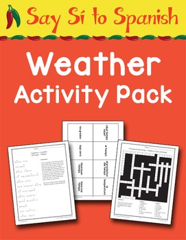 Say Sí to Spanish: Weather Activity Pack