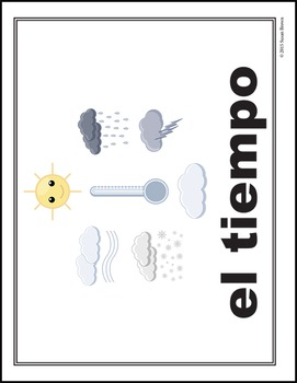 Say Sí to Spanish: Weather Poster Pack