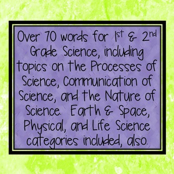 "Say ""Science"" Word Wall - 1st & 2nd Grade - Six set COMBO"