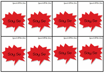Say So, A Sentence Game for /s/ and /z/ Sounds