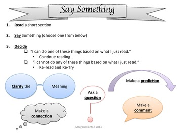Say Something Comprehension Strategy