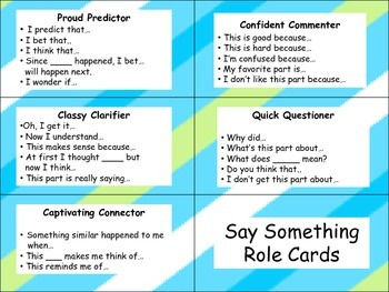 Say Something Protocol- Role Cards