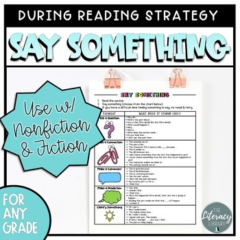 Say Something Strategy
