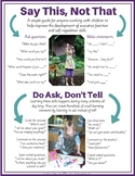 Say This, Not That: Tips to teach self-regulation & execut